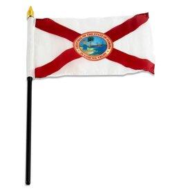 "Online Stores Stick Flag 4""x6"" - Florida"