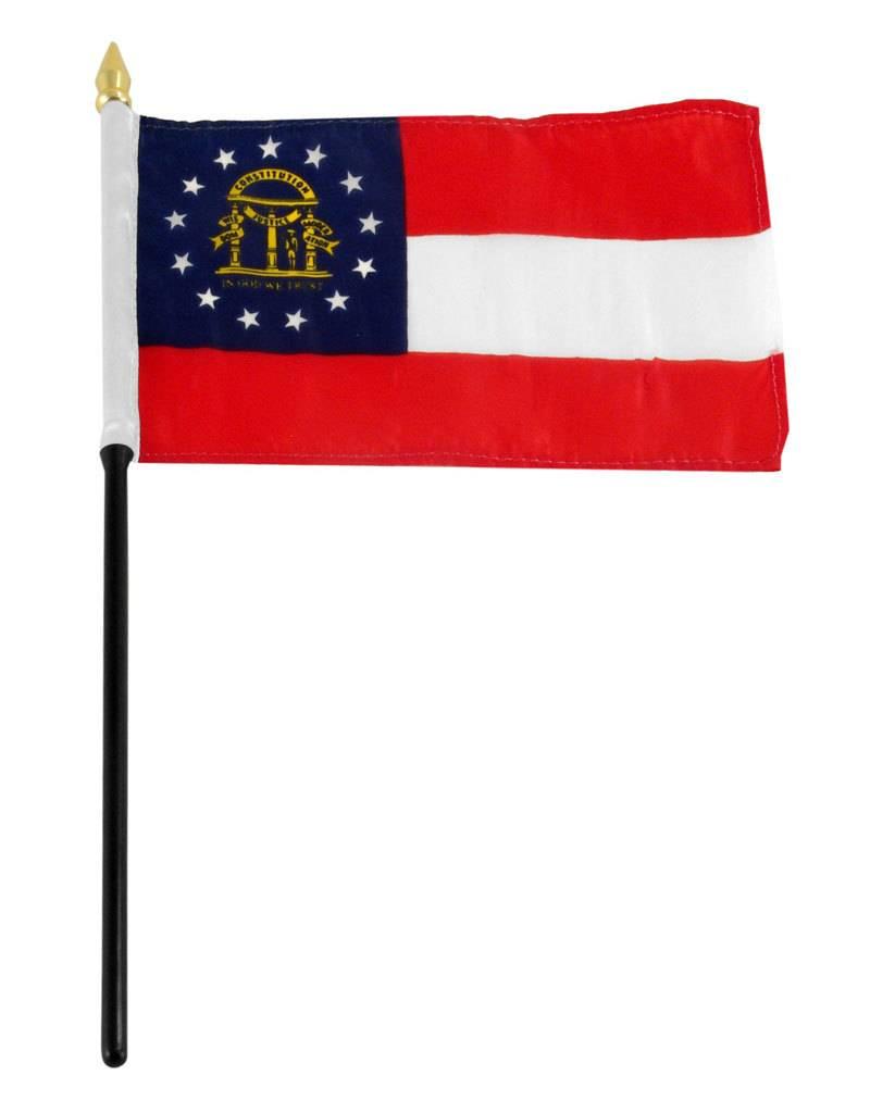 "Online Stores Stick Flag 4""x6"" - Georgia"
