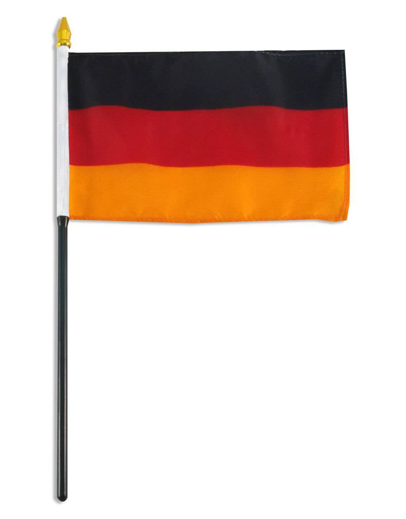 """Online Stores Stick Flag 4""""x6"""" - Germany"""