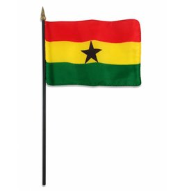 "Online Stores Stick Flag 4""x6"" - Ghana"