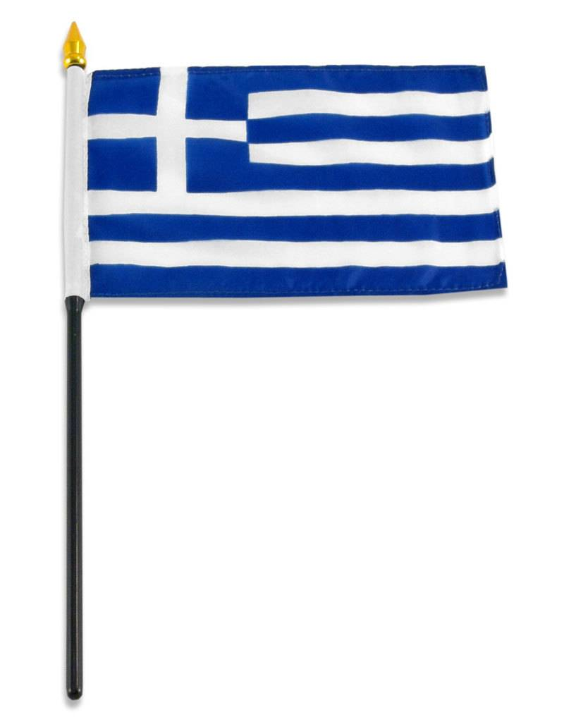 "Online Stores Stick Flag 4""x6"" - Greece"