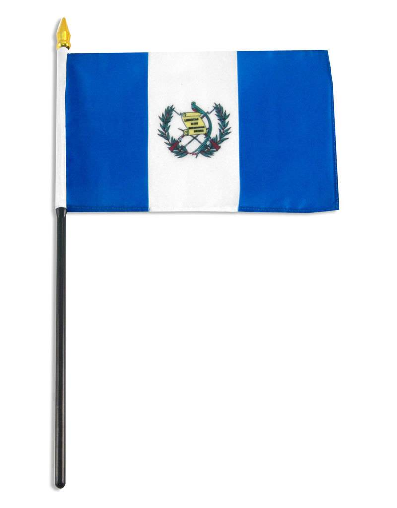 "Online Stores Stick Flag 4""x6"" - Guatemala"