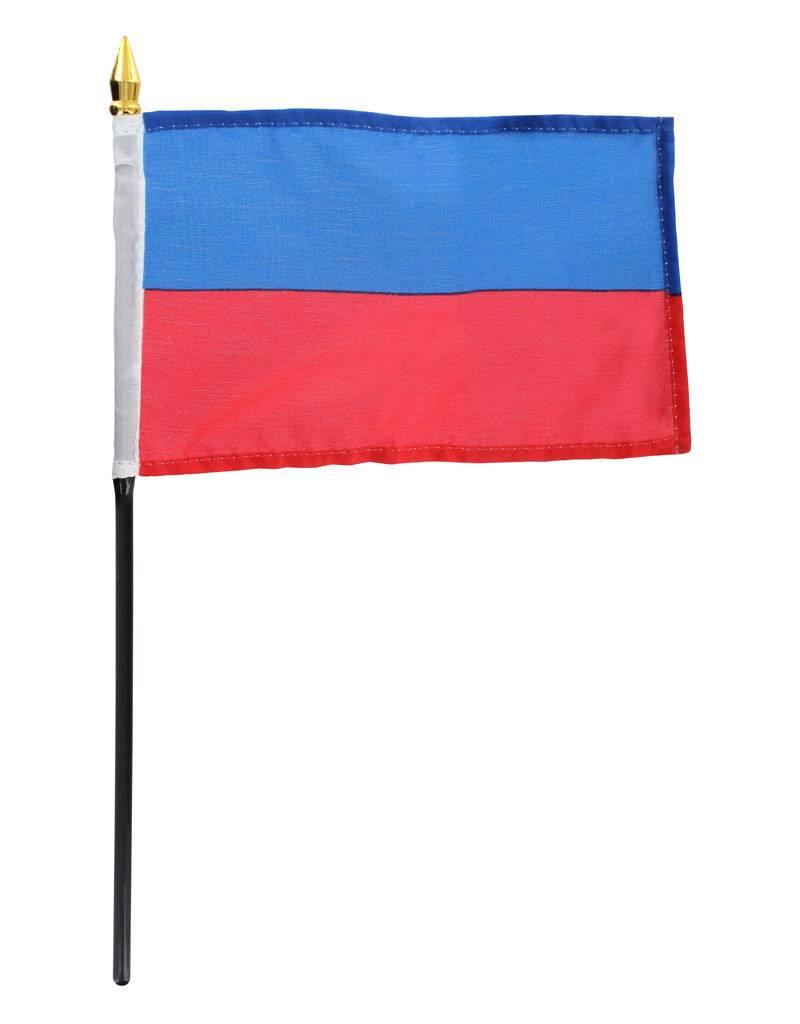 """Online Stores Stick Flag 4""""x6"""" - Haiti"""