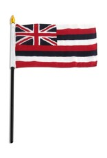 "Online Stores Stick Flag 4""x6"" - Hawaii"