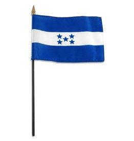"Popcorn Tree Stick Flag 4""x6"" - Honduras"