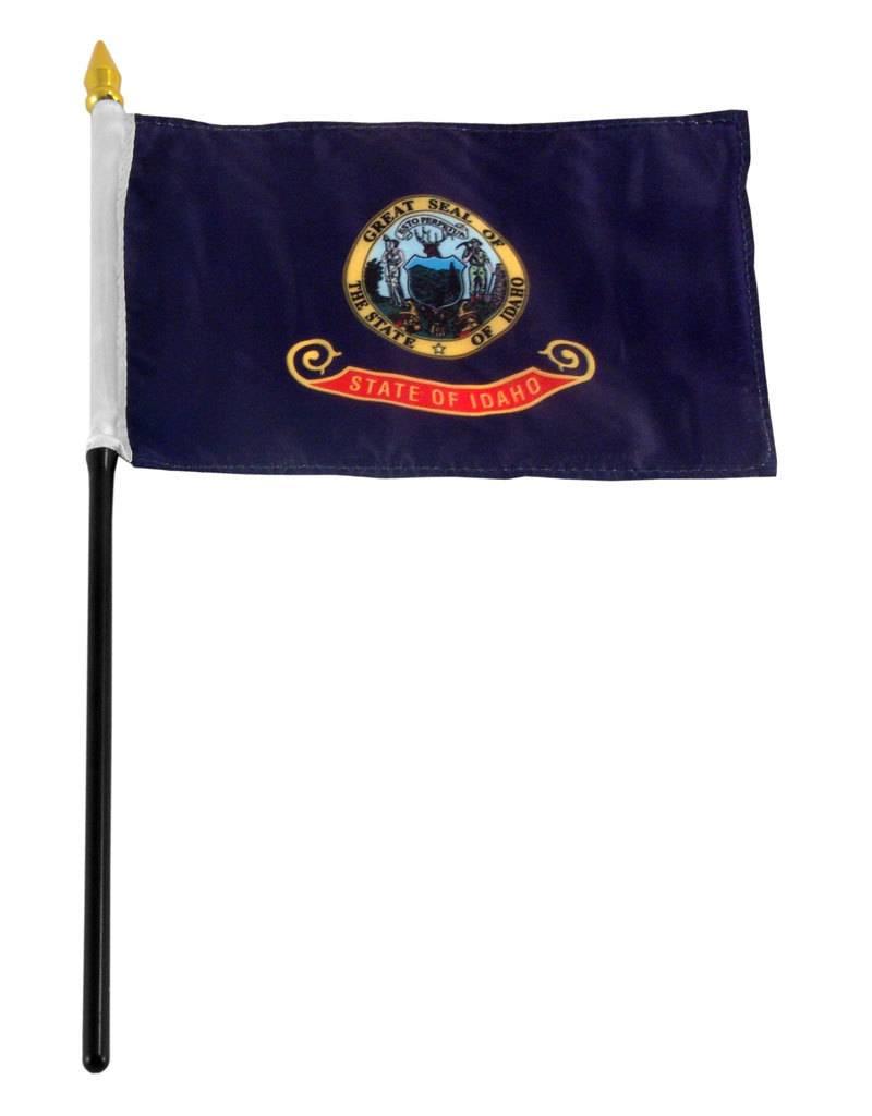 "Online Stores Stick Flag 4""x6"" - Idaho"