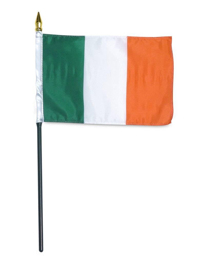 """Online Stores Stick Flag 4""""x6"""" - Ireland"""