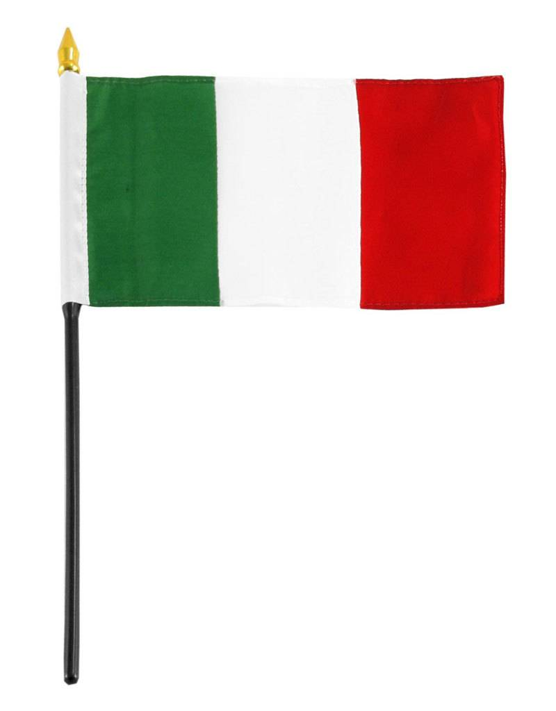 """Online Stores Stick Flag 4""""x6"""" - Italy"""