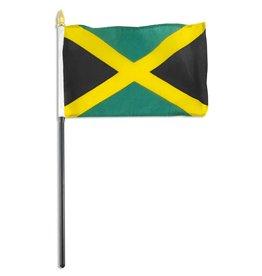 "Online Stores Stick Flag 4""x6"" - Jamaica"
