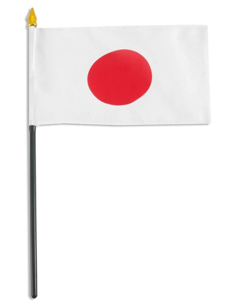 "Online Stores Stick Flag 4""x6"" - Japan"