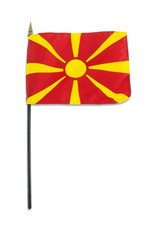 "Online Stores Stick Flag 4""x6"" - Macedonia"