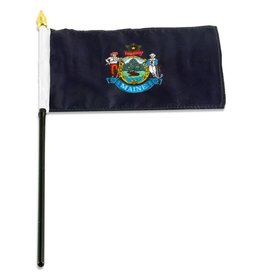 "Online Stores Stick Flag 4""x6"" - Maine"