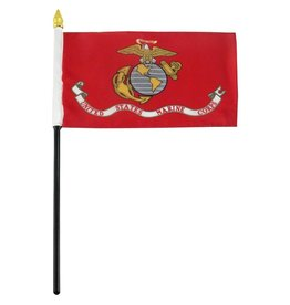 """Online Stores Stick Flag 4""""x6"""" - Marine"""