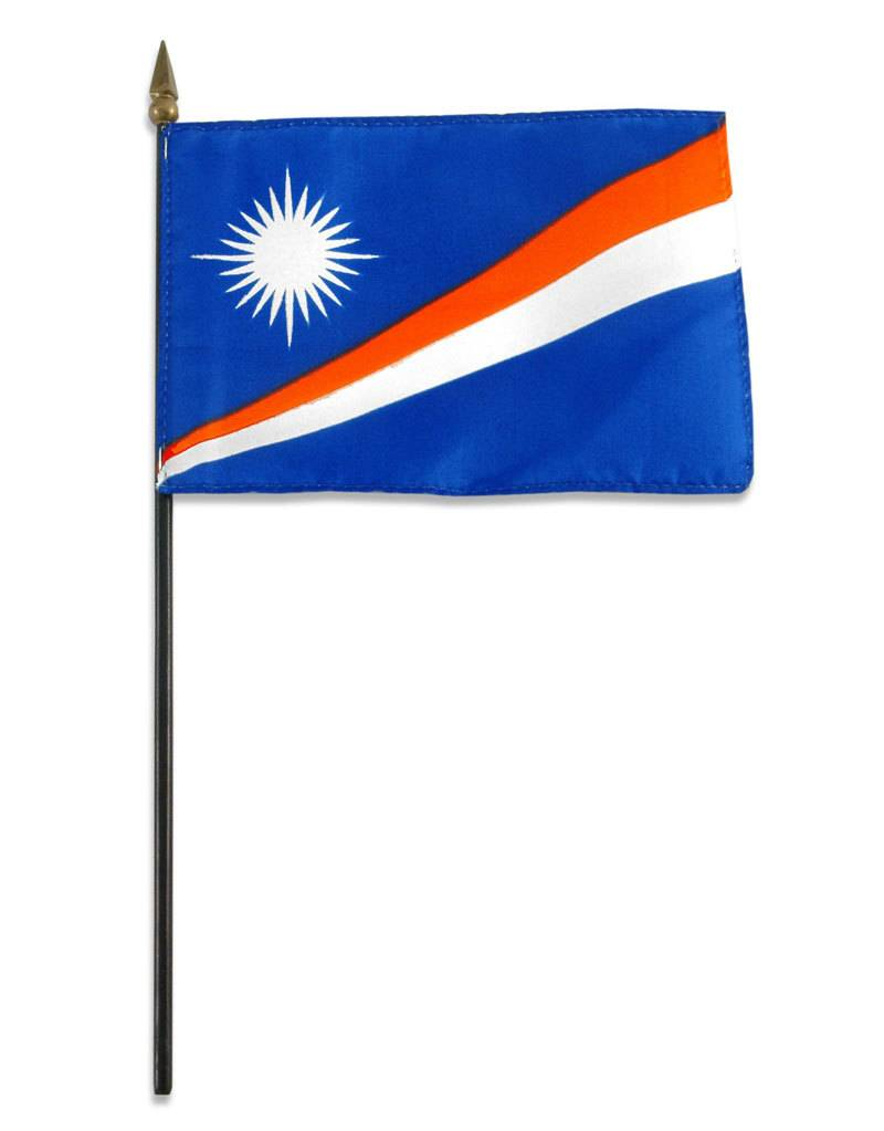 "Online Stores Stick Flag 4""x6"" - Marshall Islands"