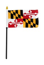 "Online Stores Stick Flag 4""x6"" - Maryland"