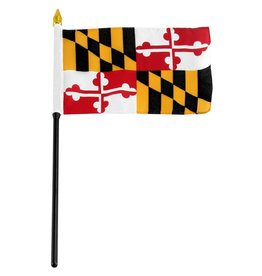 "Online Stores Stick Flag 4""x6"" - Maryland"