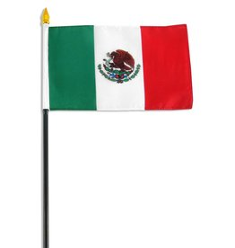 "Online Stores Stick Flag 4""x6"" - Mexico"