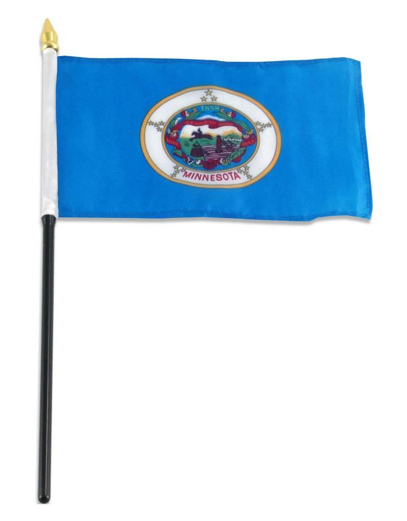 "Online Stores Stick Flag 4""x6"" - Minnesota"