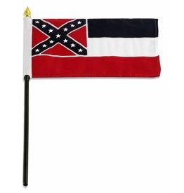 "Online Stores Stick Flag 4""x6"" - Mississippi"