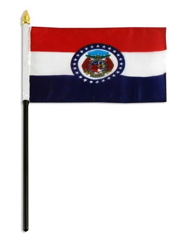 "Online Stores Stick Flag 4""x6"" - Missouri"