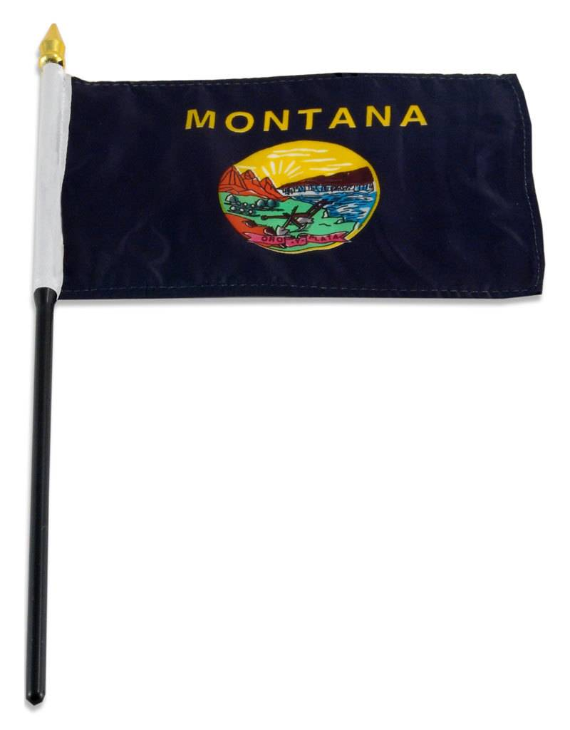 "Online Stores Stick Flag 4""x6"" - Montana"