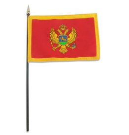 "Online Stores Stick Flag 4""x6"" - Montenegro"