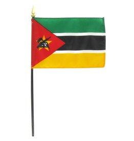 """Online Stores Stick Flag 4""""x6"""" - Mozambique"""