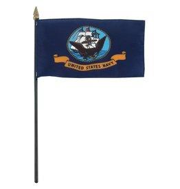 "Online Stores Stick Flag 4""x6"" - Navy"