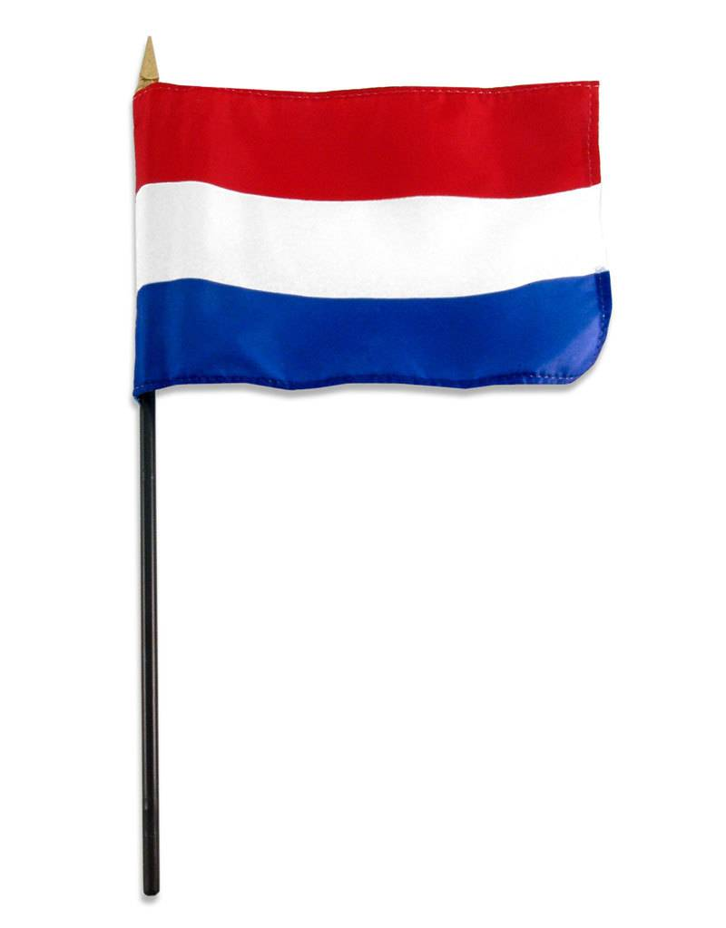 "Online Stores Stick Flag 4""x6"" - Netherlands"