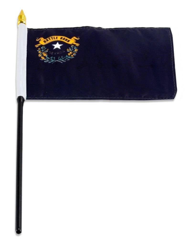 "Online Stores Stick Flag 4""x6"" - Nevada"