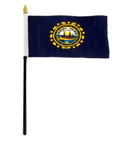 "Online Stores Stick Flag 4""x6"" - New Hampshire"