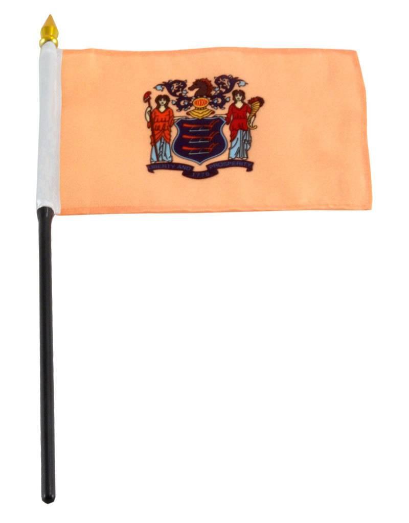 "Online Stores Stick Flag 4""x6"" - New Jersey"