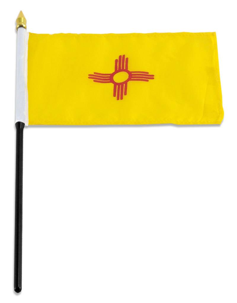 "Online Stores Stick Flag 4""x6"" - New Mexico"