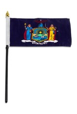 "Online Stores Stick Flag 4""x6"" - New York"