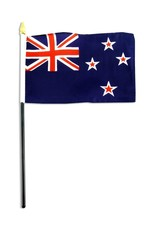 "Online Stores Stick Flag 4""x6"" - New Zealand"