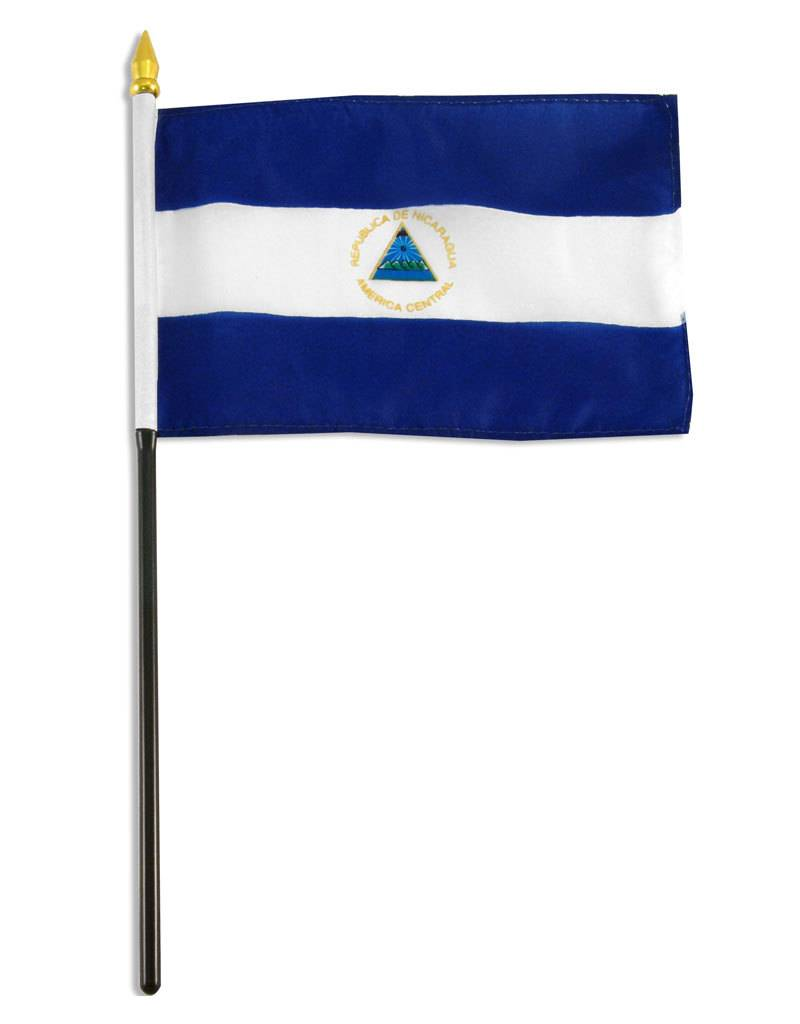 "Online Stores Stick Flag 4""x6"" - Nicaragua"