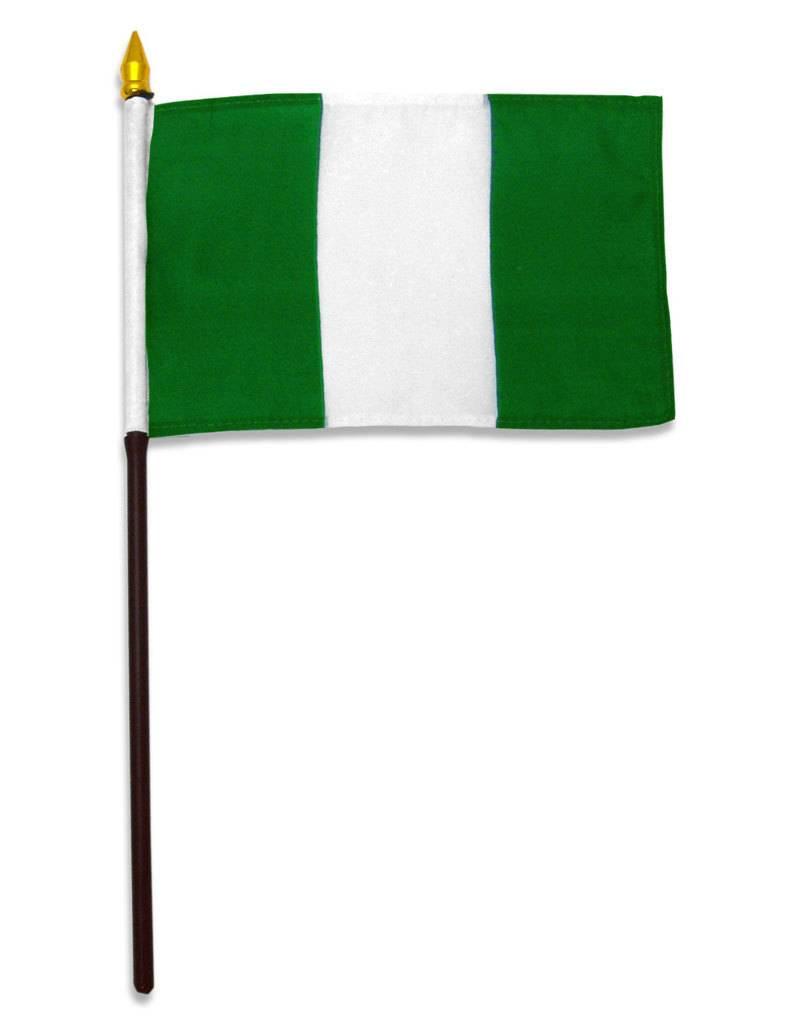 "Online Stores Stick Flag 4""x6"" - Nigeria"