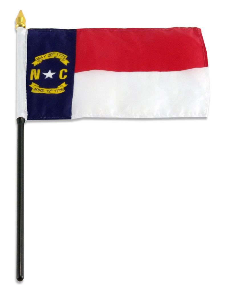 "Online Stores Stick Flag 4""x6"" - North Carolina"