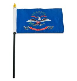 "Online Stores Stick Flag 4""x6"" - North Dakota"