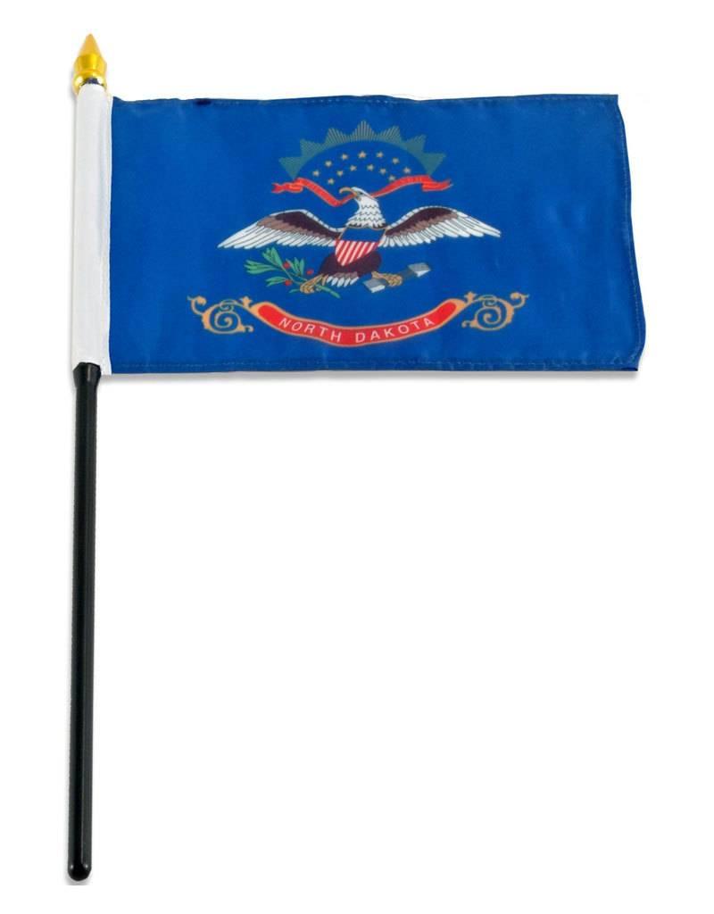 "Online Stores Stick Flag 4""x6"" - North Dakota"