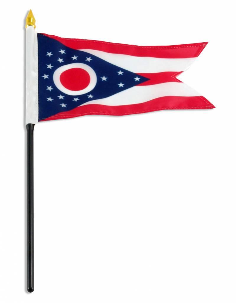 "Online Stores Stick Flag 4""x6"" - Ohio"