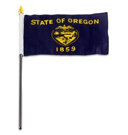 "Online Stores Stick Flag 4""x6"" - Oregon"