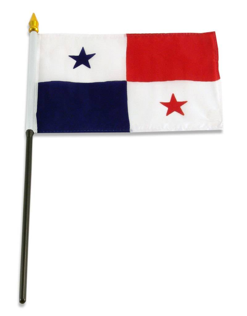 "Online Stores Stick Flag 4""x6"" - Panama"
