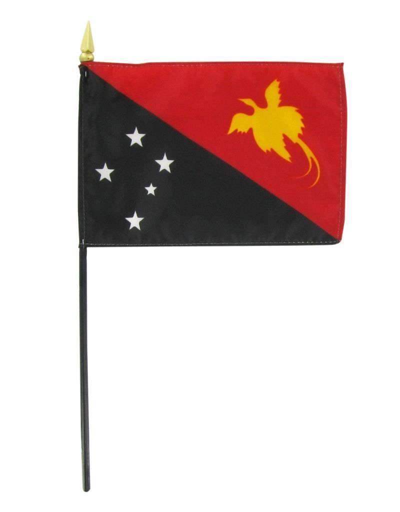 "Online Stores Stick Flag 4""x6"" - Papua New Guinea"