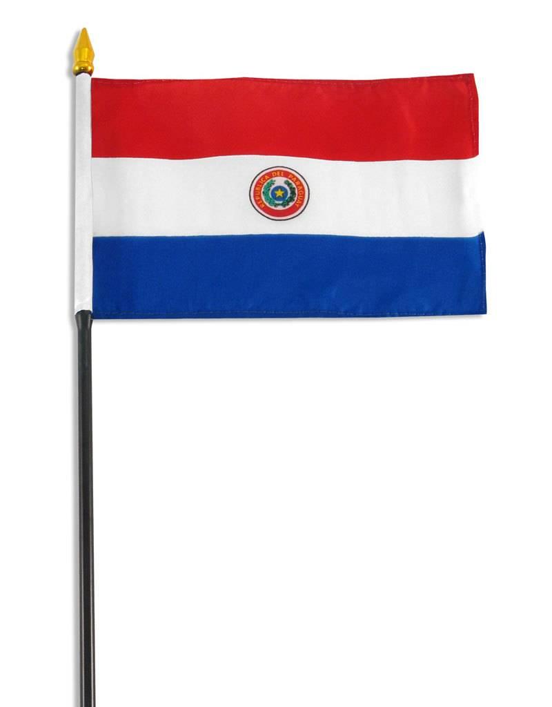 "Online Stores Stick Flag 4""x6"" - Paraguay"