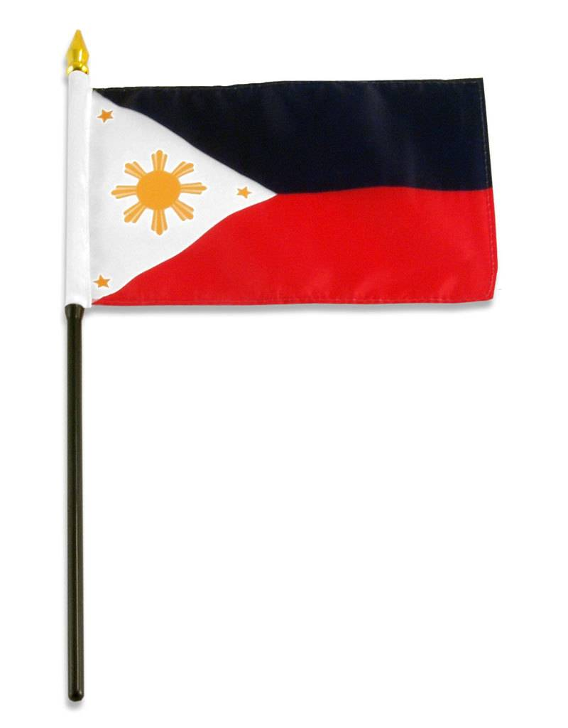 "Online Stores Stick Flag 4""x6"" - Philippines"