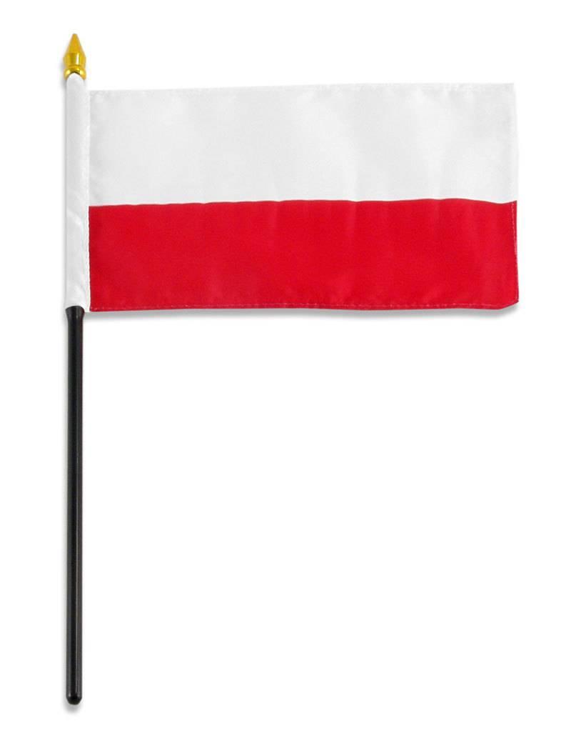 "Online Stores Stick Flag 4""x6"" - Poland"