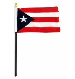"Online Stores Stick Flag 4""x6"" - Puerto Rico"