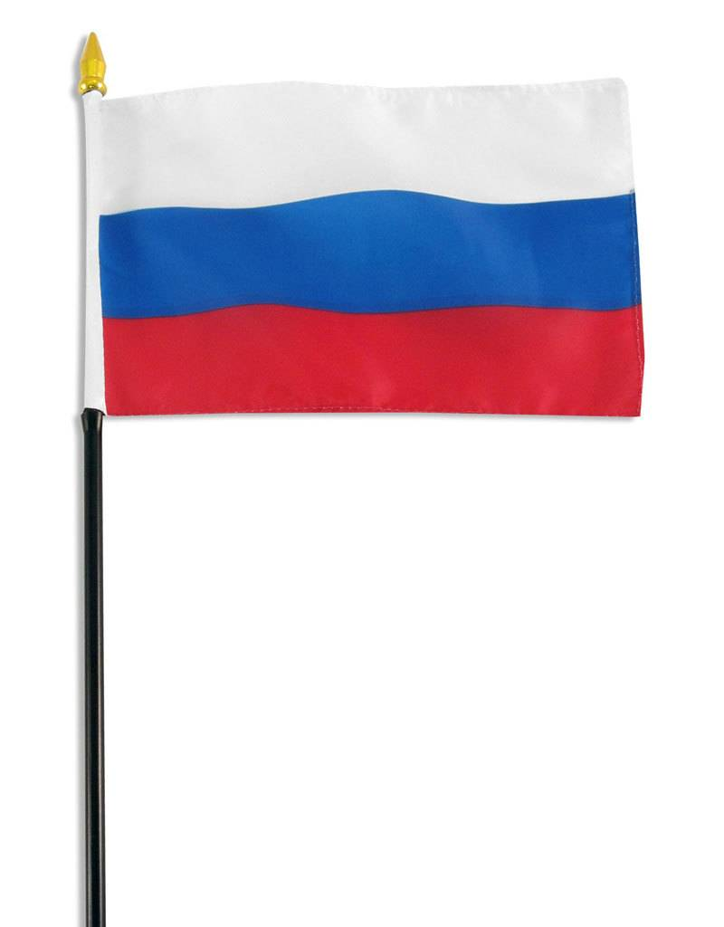 "Online Stores Stick Flag 4""x6"" - Russian Federation"