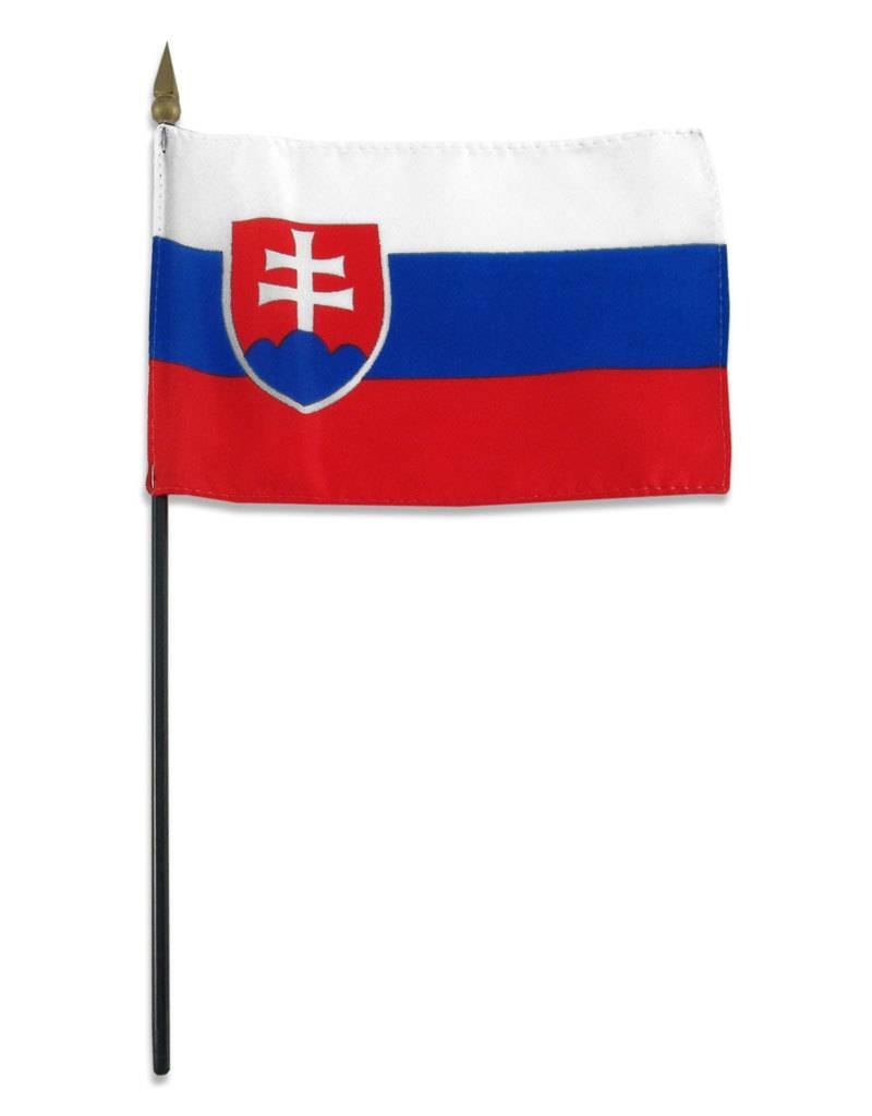 "Online Stores Stick Flag 4""x6"" - Slovakia"